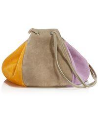 Creatures of Comfort - Puff Color-block Suede Drawstring Shoulder Bag - Lyst