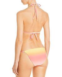 Aqua Swim Ombré String Bikini Bottoms - Orange