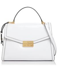 Tory Burch - Juliette Top Handle Leather Satchel - Lyst