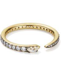 Nadri - Sterling Villa Pavé Spike Ring In 18k Gold-plated Sterling Silver - Lyst