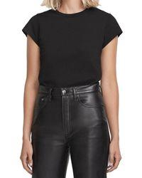 Agolde Irina Cap Sleeve Bodysuit - Black
