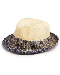 15d47aeb1b2 Lyst - Paul Smith Pandan Straw Hat in Brown for Men