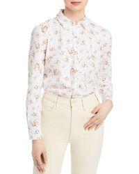 T Tahari Blurred Floral Print Shirt - Multicolour