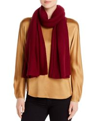 C By Bloomingdale's Oversized Cashmere Travel Wrap - Red