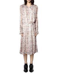 Zadig & Voltaire Raya Printed Midi Dress - Multicolor