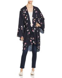 Vero Moda - Long Floral-print Kimono - Lyst