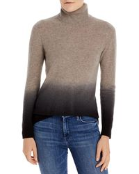 C By Bloomingdale's Dip Dyed Cashmere Turtleneck Jumper - Brown