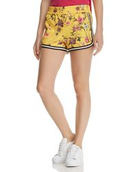 Pam & Gela Floral Dolphin Shorts - Yellow
