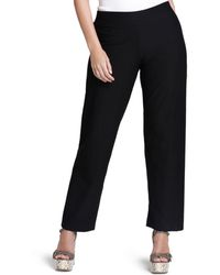 Eileen Fisher - System Stretch - Crepe Straight Pants - Lyst
