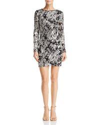 Aqua - Embellished Mini Dress - Lyst