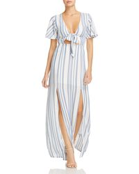 Lost + Wander - Lost And Wonder Marina Striped Tie-front Dress - Lyst