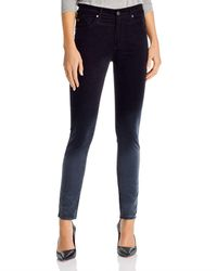 AG Jeans Farrah High Rise Skinny Jeans In Sunbaked Ombre - Blue