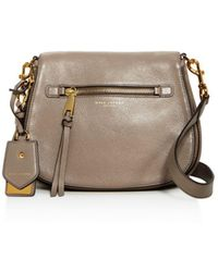 Marc Jacobs Recruit Nomad Leather Saddle Bag - Gray