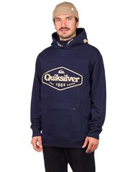 Quiksilver Big Logo Tech Shred Hoodie azul