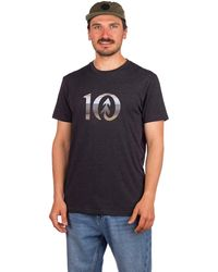 Tentree Spruce Stripe Ten T-Shirt negro