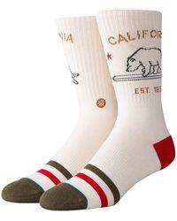 Stance California Republic Socks blanco - Neutro