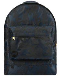 Mi-Pac Satin Camo Backpack azul