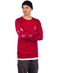Volcom Santastone Crew Sweater rojo