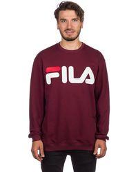 Fila Basic Sweater violeta - Rojo