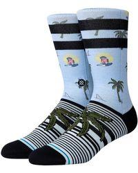 Stance Aloha Monkey ST Socks azul - Multicolor