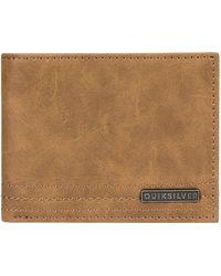 Quiksilver Stitchy vi wallet amarillo - Marrón