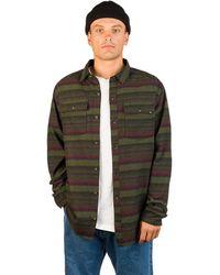 Dravus Malachi Woven Stripe Shirt verde