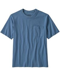 Patagonia Organic Cotton MW Pocket T-Shirt - Blau