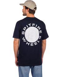 Spitfire Classic 87 Swirl T-Shirt white - Blau
