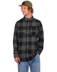 Dravus Travis Flannel Shirt gris - Negro