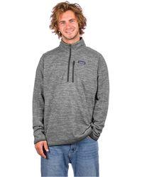 Patagonia Better Sweater 1/4 Zip Fleece Pullover gris