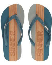 Sinner Capitola Sandals light brown - Blau