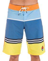 """Oakley Striped 1975 21"""" Boardshorts - Blau"""