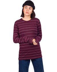 Kazane Tove Long Sleeve T-Shirt rojo - Morado