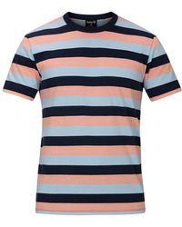 Hurley Dri-Fit Harvey Stripe Patch T-Shirt - Blau