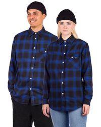 Blue Tomato Plaid Flannel Shirt azul