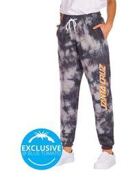 Santa Cruz BT Strip Logo Jogging Pants grey tie dye - Grau