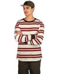 Zine Newbie stripe longsleeve t-shirt red - Rot