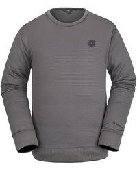Volcom Polartec crew fleece sweater gris
