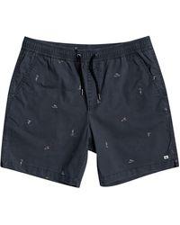 Quiksilver Taxer print shorts azul