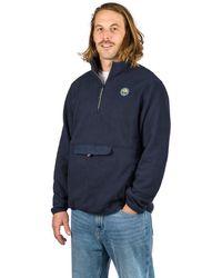 Hurley Pendleton Sherpa Sweater gris - Azul