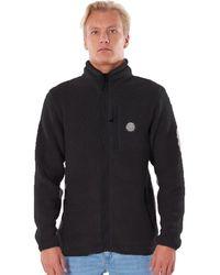 Rip Curl Fireside Crew Zip Fleece Sweater negro