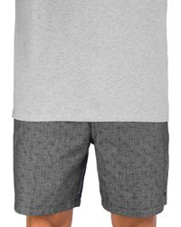 """Hurley Chambray volley 18"""" boardshorts gris - Negro"""