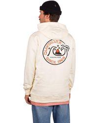 Quiksilver Into the wide hoodie blanco - Neutro