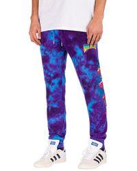 RIPNDIP Psychedelic jogging pants violeta - Azul