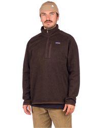 Patagonia Better Sweater 1/4 Zip Fleece Pullover marrón