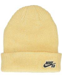 Nike Fisherman Beanie marrón - Amarillo