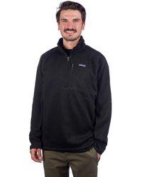 Patagonia Better Sweater 1/4 Zip Fleece Pullover negro