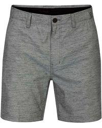 "Hurley Df flex marwick 18"" shorts gris"