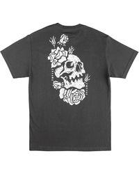 Empyre Skully Rose T-Shirt estampado - Gris