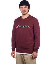 Champion Crewneck Sweater rojo